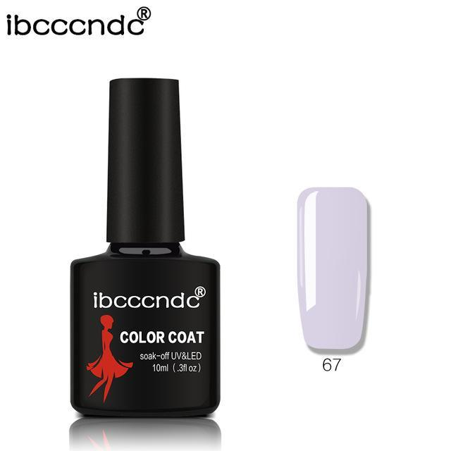 New Ibcccndc 80 Colors 10Ml Uv Led Soak-Off Gel Nail Polish Nail Art Semi Permanent Gel Varnishes-Nails & Tools-ibcccndc Official Store-67-EpicWorldStore.com