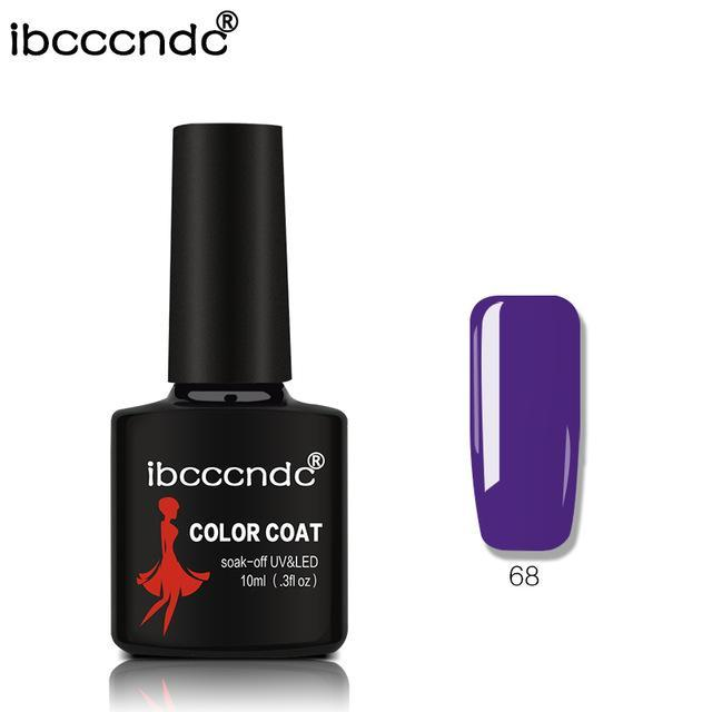 New Ibcccndc 80 Colors 10Ml Uv Led Soak-Off Gel Nail Polish Nail Art Semi Permanent Gel Varnishes-Nails & Tools-ibcccndc Official Store-68-EpicWorldStore.com