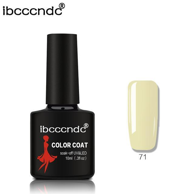 New Ibcccndc 80 Colors 10Ml Uv Led Soak-Off Gel Nail Polish Nail Art Semi Permanent Gel Varnishes-Nails & Tools-ibcccndc Official Store-71-EpicWorldStore.com