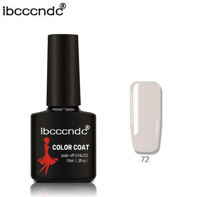 New Ibcccndc 80 Colors 10Ml Uv Led Soak-Off Gel Nail Polish Nail Art Semi Permanent Gel Varnishes-Nails & Tools-ibcccndc Official Store-72-EpicWorldStore.com