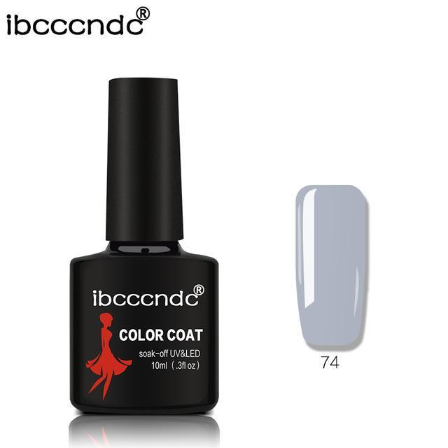 New Ibcccndc 80 Colors 10Ml Uv Led Soak-Off Gel Nail Polish Nail Art Semi Permanent Gel Varnishes-Nails & Tools-ibcccndc Official Store-74-EpicWorldStore.com