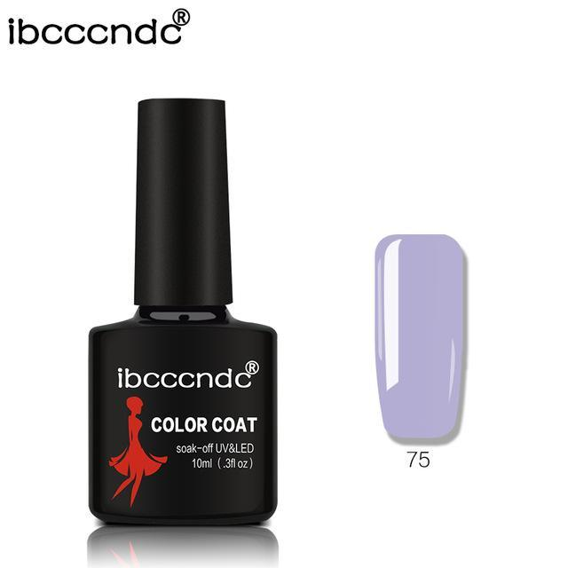 New Ibcccndc 80 Colors 10Ml Uv Led Soak-Off Gel Nail Polish Nail Art Semi Permanent Gel Varnishes-Nails & Tools-ibcccndc Official Store-75-EpicWorldStore.com