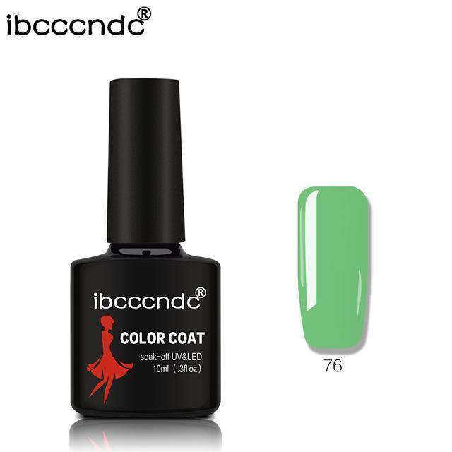 New Ibcccndc 80 Colors 10Ml Uv Led Soak-Off Gel Nail Polish Nail Art Semi Permanent Gel Varnishes-Nails & Tools-ibcccndc Official Store-76-EpicWorldStore.com
