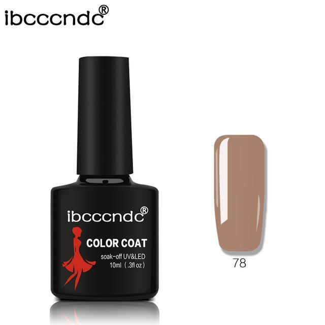 New Ibcccndc 80 Colors 10Ml Uv Led Soak-Off Gel Nail Polish Nail Art Semi Permanent Gel Varnishes-Nails & Tools-ibcccndc Official Store-78-EpicWorldStore.com