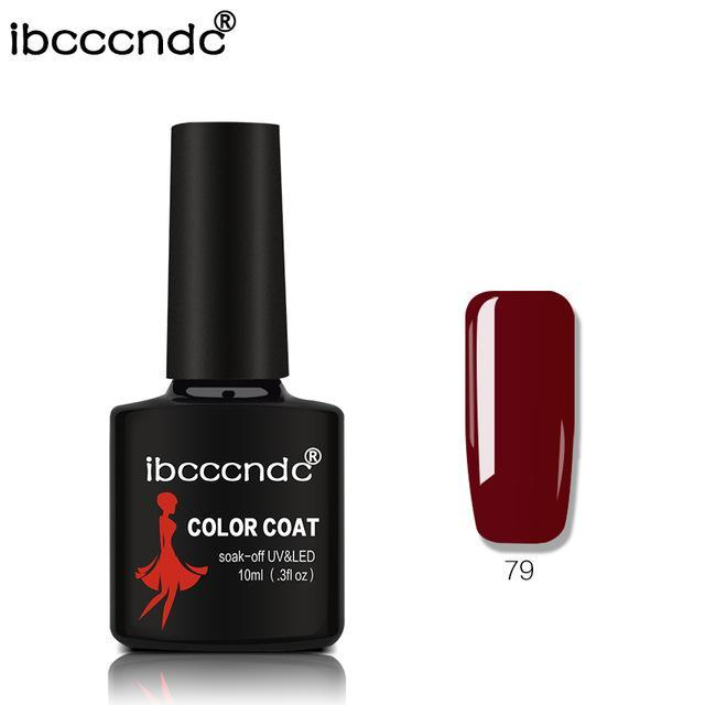 New Ibcccndc 80 Colors 10Ml Uv Led Soak-Off Gel Nail Polish Nail Art Semi Permanent Gel Varnishes-Nails & Tools-ibcccndc Official Store-79-EpicWorldStore.com
