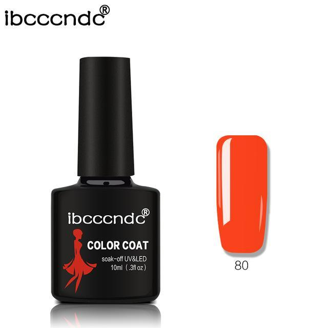 New Ibcccndc 80 Colors 10Ml Uv Led Soak-Off Gel Nail Polish Nail Art Semi Permanent Gel Varnishes-Nails & Tools-ibcccndc Official Store-80-EpicWorldStore.com