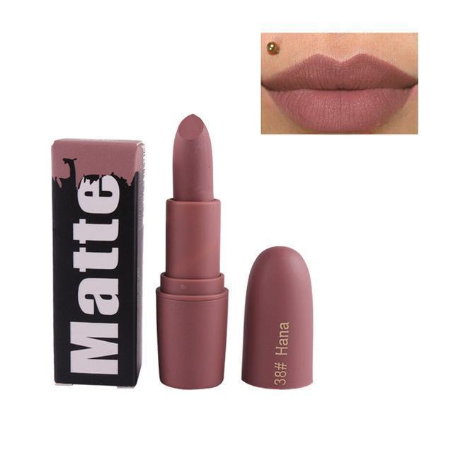 New Lipsticks For Women Stylish Brand Lips Color Cosmetics Waterproof Long  Lasting Miss Rose