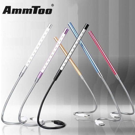 New Metal Material Usb Led Light Lamp 10Leds Flexible Book Reading Lights For Notebook Laptop Pc-Book Lights-ammtoo Official Store-Blue-EpicWorldStore.com