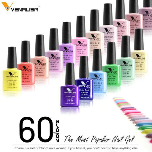 New Nail Art Design Manicure Venalisa 60Color 7.5Ml Soak Off Enamel Gel Polish Led Uv Gel-Nails & Tools-VENALISA Official Store-911 Blakc-EpicWorldStore.com