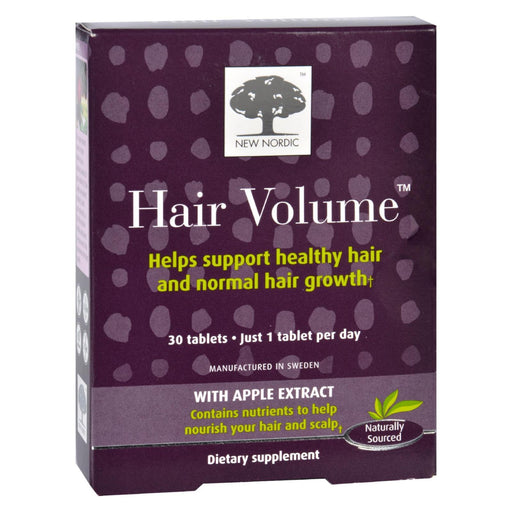 New Nordic Hair Volume - 30 Tablets-Eco-Friendly Home & Grocery-New Nordic-EpicWorldStore.com