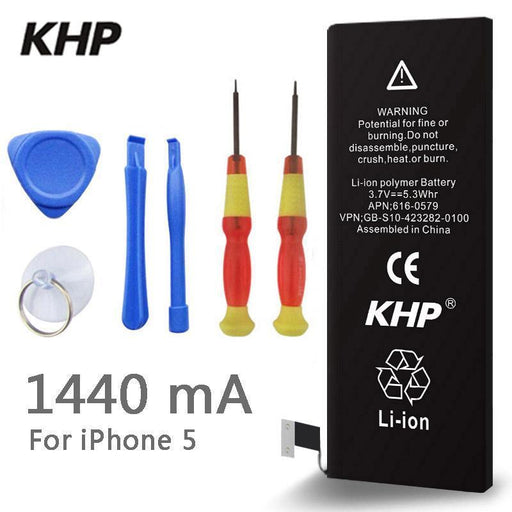 New Original Khp Phone Battery For Iphone 5 5G Real Capacity 1440Mah With Tools Kit Replacement-Mobile Phone Parts-ISMART Official Store-EpicWorldStore.com