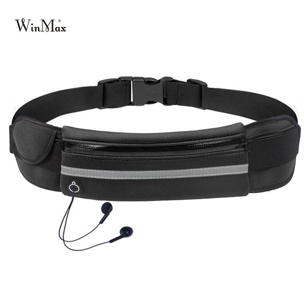 New Outdoor Running Waist Bag Waterproof Mobile Phone Holder Jogging Belt Belly Bag Women Gym-Sport Bags-WinmaxSportsBag Store-Black Color-EpicWorldStore.com