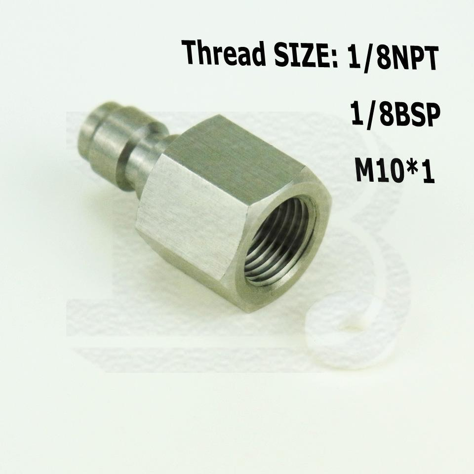 Paintball 1//8NPT Thread Male 8mm Female Air Compressed Adapter Quick Disconnect