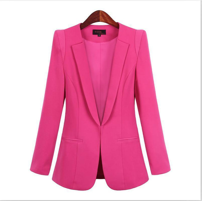 New Plus Size Womens Business Suits Spring Autumn All-Match Women Blazers Jackets Short Slim-Suits & Sets-OAIRED Official Store-Black-XS-EpicWorldStore.com