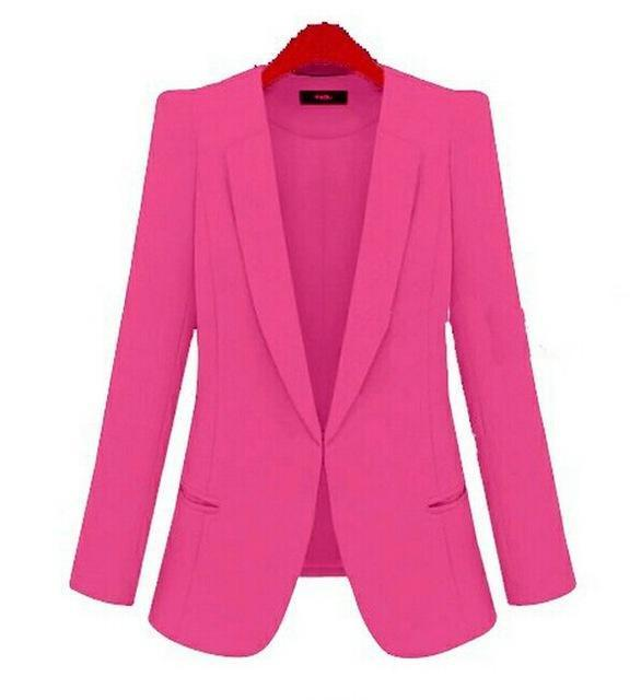 New Plus Size Womens Business Suits Spring Autumn All-Match Women Blazers Jackets Short Slim-Suits & Sets-OAIRED Official Store-rose red-XS-EpicWorldStore.com