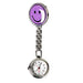 New Portable Charming Smile Face Nurse Fob Brooch Pendant Pocket Quartz Watch Hot Sell Ll@17-Pocket & Fob Watches-Stylish 88 Store-Purple-EpicWorldStore.com