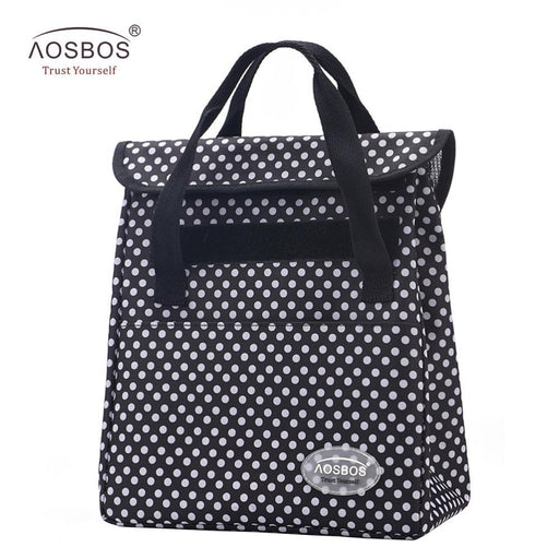 New Portable Thermal Lunch Bags For Women Men Multifunction Large Capacity Storage Tote Bags Food-Functional Bags-Aosbos Official Store-white dot-EpicWorldStore.com