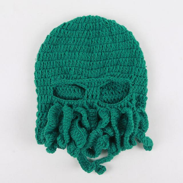 2862e82d65f New Pure Hand-Woven Octopus Wool Hat Halloween Party Funny Toys-Kid s Party-