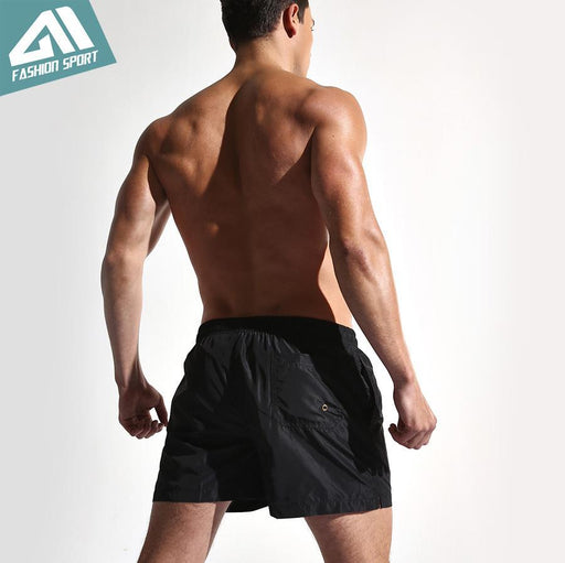 New Quick Dry Mens Swim Shorts Summer Mens Board Shorts Surf Swimwear Beach Short Male Athletic-Water Sports-TopFashionSport Store-Black-M-EpicWorldStore.com