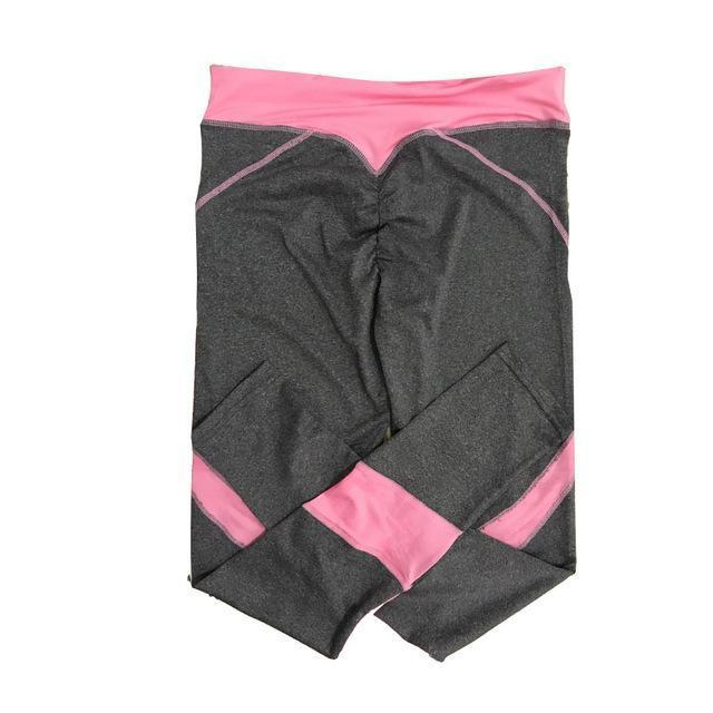 New Quick-Drying Gothic Leggings Ankle-Length Breathable Fitness Leggings-Bottoms-Shopping Outlets Store-Greypink-S-EpicWorldStore.com
