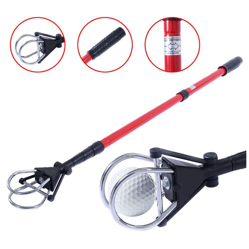 New Retractable Golf Ball Retriever Scoop Telescopic Pick Up Grabber Shaft Tool-Golf Training Aids-Splendiferous Go To Go Store-EpicWorldStore.com