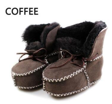 bdc3ace32 New Sheepskin Genuine Leather Wool Fur Baby Boy Winter Boots Infant Girls  Warm Moccasins Shoes-