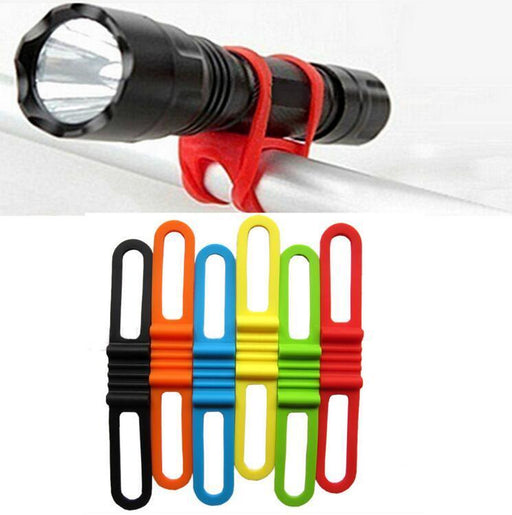 New Silicon Strap Mountain Road Bike Torch Phone Flashlight Bands Elastic Bandage Bicycle Light-Cycling-YonghuiHuang Store-White-EpicWorldStore.com