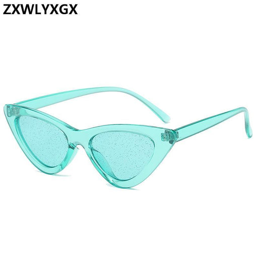New Small Cat Eye Sunglasses Women Vintage Cateye Glasses Frame Tint Sexy Shiny Lens Sun-Sunglasses-shopZXWLYXGX2 Store-C1-EpicWorldStore.com