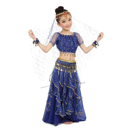 New Style Kids Belly Dance Costume Oriental Dance Costumes Belly Dance Dancer Clothes Indian Dance-Stage & Dance Wear-Belly Dance Performance Store-Dark Blue-S-EpicWorldStore.com