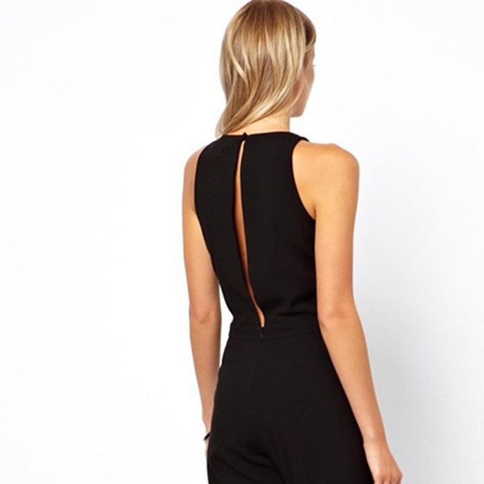 New Stylish Jumpsuits Suits Behind Hollow Out A Button Jumpsuit