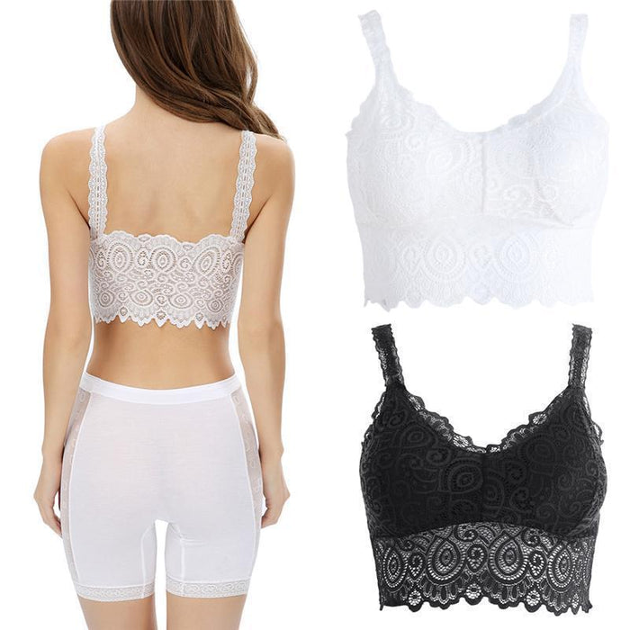 d26679bb981614 New Sexy Women Lace Bralette Bralet Bra Bustier Crop Top Floral Cami Padded Tank  Tops