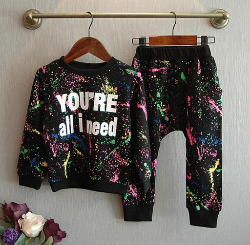 New Tops+Pants Toddler Girl Clothing Girls Kids Teens Clothes Set Baby Boys Tracksuit Kids Cloth 2-7-Boys Clothing-Idea World-1-2T-EpicWorldStore.com
