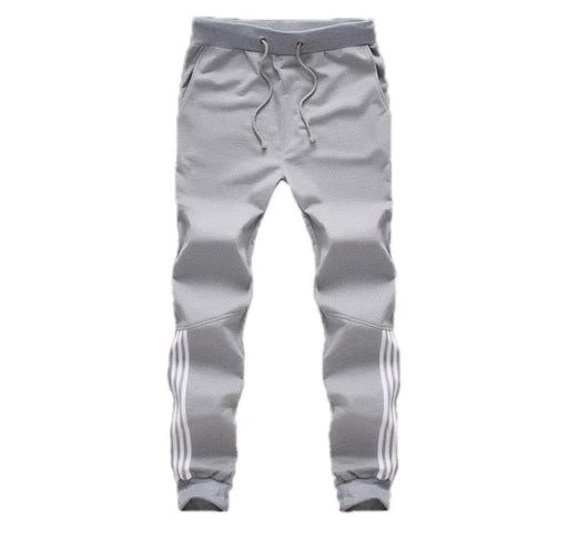 New Tracksuit Bottoms Mens Pants Cotton Sweatpants Mens Joggers Striped Pants Gyms-Pants-LBL Men's Store-Black-M-EpicWorldStore.com