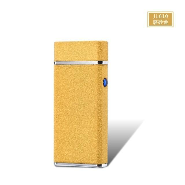 New Usb Electric Double Arc Lighter Rechargeable Windproof Torch Lighter Cigarette Dual Thunder-Household Merchandises-Tonron Personalized Store-Frosted Gold-EpicWorldStore.com