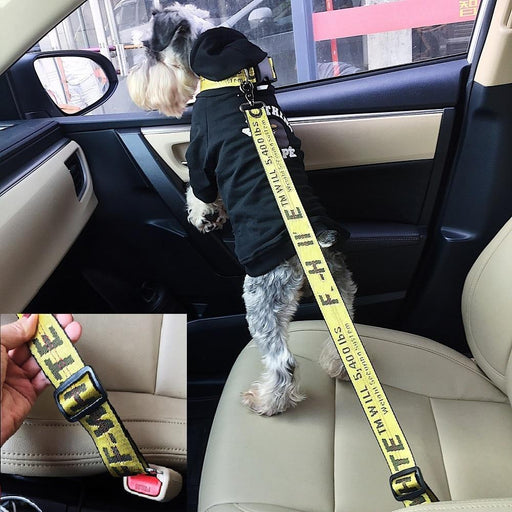 New Vehicle Car Pet Dog Seat Belt Puppy Collar Leash Lead Clip Pet Dog Supplies Safety Lever Auto-Seat Belts-Wonder Island Store-Black-Seat belts 25-60cm-EpicWorldStore.com