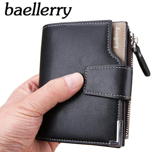 New Wallet Baellerry Brand Short Men Wallets Pu Leather Male Purse Card Holder Wallet Man-BoLoons Store-Deep Blue-EpicWorldStore.com