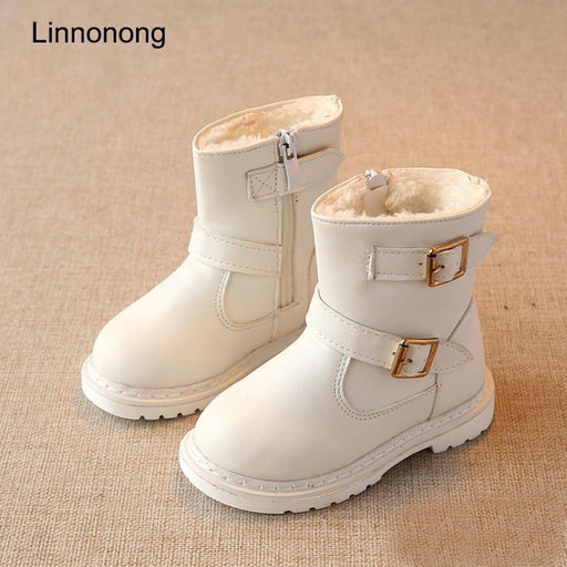 New Winter Children Snow Boots For Girls Fur Boot Kids Shoes Keep Warm Toddlers Girl-Children's Shoes-LANQI & ROKER CO., LTD.-Red-6-EpicWorldStore.com