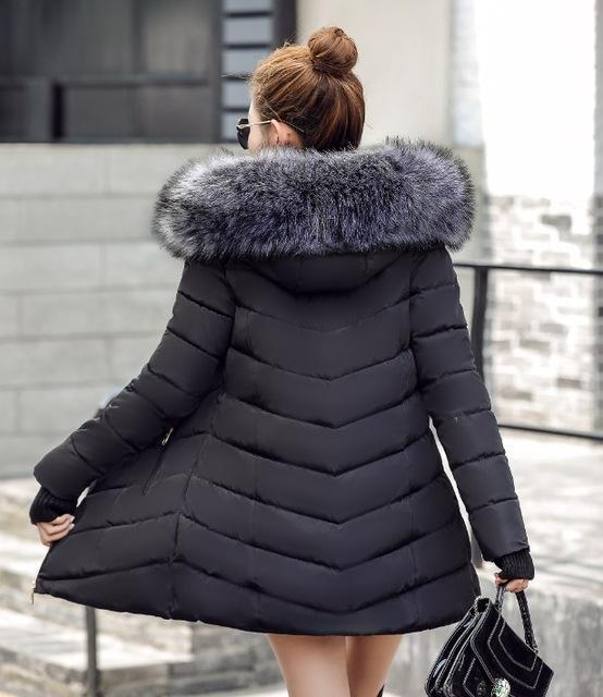 New Winter Jacket Women Coats Artificial Raccoon Hair Collar Female Parka Black Thick Cotton-Jackets & Coats-GZGOG Official Store-Black-S-EpicWorldStore.com