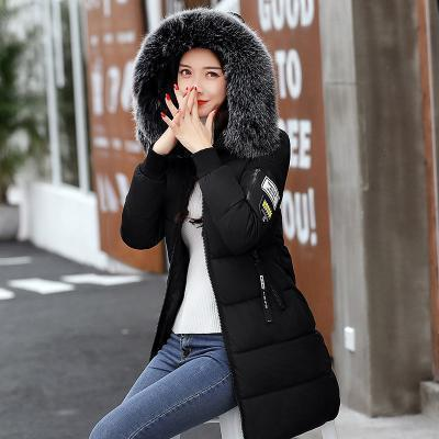 New Winter Jacket Women Cotton Coat Fur Collar Hood Parka Female Long Jackets Thick Warm-Jackets & Coats-chu mark Official Store-Black white fur-M-EpicWorldStore.com