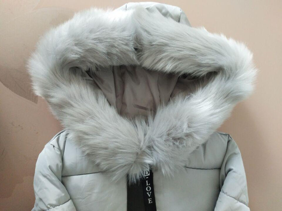 New Winter Jacket Women Cotton Coat Fur Collar Hood Parka Female Long Jackets Thick Warm-Jackets & Coats-chu mark Official Store-Grey-M-EpicWorldStore.com