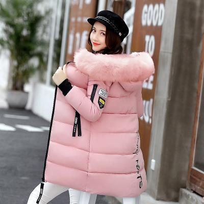 New Winter Jacket Women Cotton Coat Fur Collar Hood Parka Female Long Jackets Thick Warm-Jackets & Coats-chu mark Official Store-Pink-M-EpicWorldStore.com