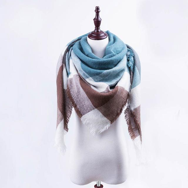 New Winter Plaid Scarf Women Warm Scarf Shawls Ladies Basic Scarves Pashmina Luxury Brand-Accessories-WOWEXPRESS Store-B14-EpicWorldStore.com
