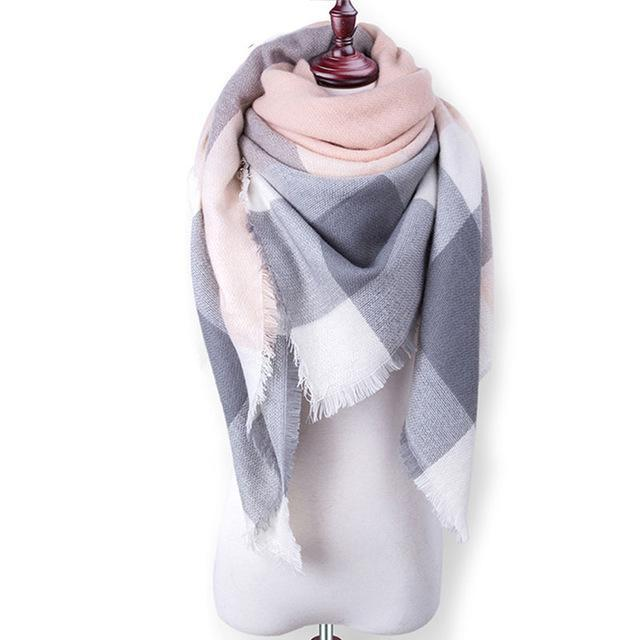 New Winter Plaid Scarf Women Warm Scarf Shawls Ladies Basic Scarves Pashmina Luxury Brand-Accessories-WOWEXPRESS Store-B16-EpicWorldStore.com