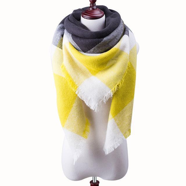 New Winter Plaid Scarf Women Warm Scarf Shawls Ladies Basic Scarves Pashmina Luxury Brand-Accessories-WOWEXPRESS Store-B17-EpicWorldStore.com