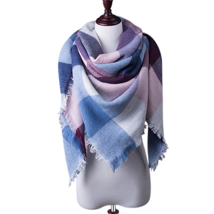 New Winter Plaid Scarf Women Warm Scarf Shawls Ladies Basic Scarves Pashmina Luxury Brand-Accessories-WOWEXPRESS Store-B21-EpicWorldStore.com