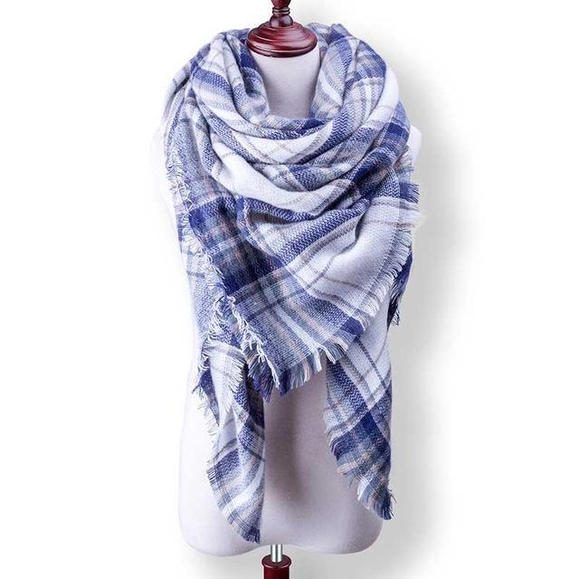 New Winter Plaid Scarf Women Warm Scarf Shawls Ladies Basic Scarves Pashmina Luxury Brand-Accessories-WOWEXPRESS Store-B23-EpicWorldStore.com