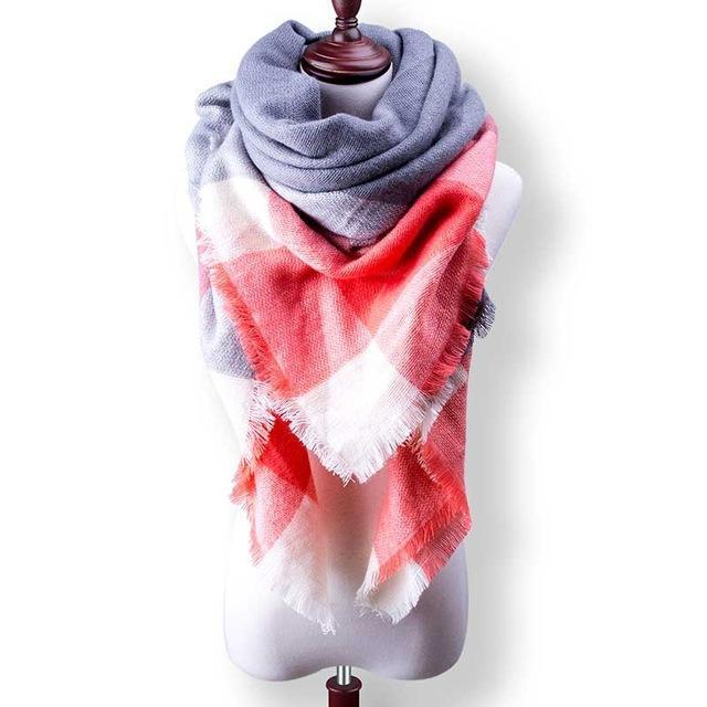 New Winter Plaid Scarf Women Warm Scarf Shawls Ladies Basic Scarves Pashmina Luxury Brand-Accessories-WOWEXPRESS Store-B29-EpicWorldStore.com