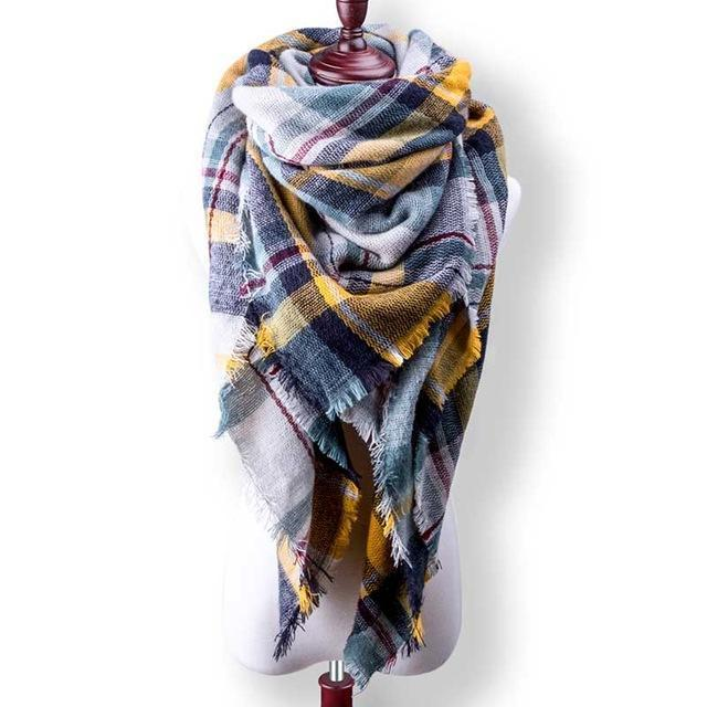 New Winter Plaid Scarf Women Warm Scarf Shawls Ladies Basic Scarves Pashmina Luxury Brand-Accessories-WOWEXPRESS Store-B30-EpicWorldStore.com