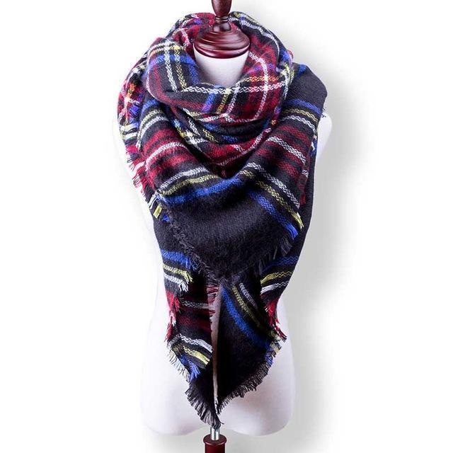 New Winter Plaid Scarf Women Warm Scarf Shawls Ladies Basic Scarves Pashmina Luxury Brand-Accessories-WOWEXPRESS Store-B36-EpicWorldStore.com