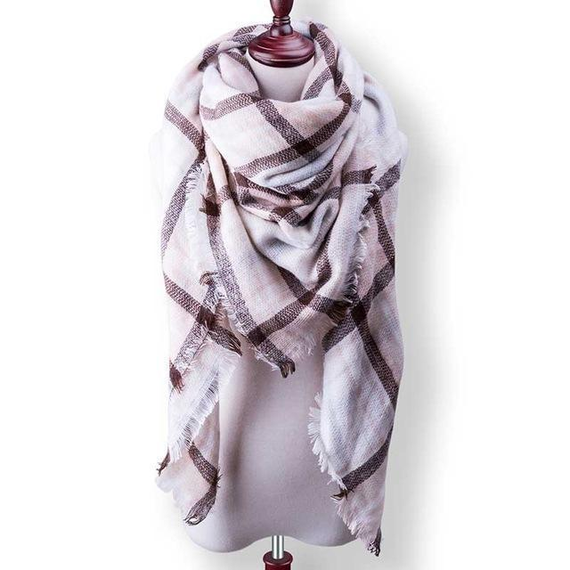 New Winter Plaid Scarf Women Warm Scarf Shawls Ladies Basic Scarves Pashmina Luxury Brand-Accessories-WOWEXPRESS Store-B38-EpicWorldStore.com